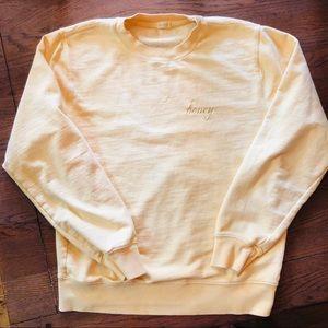 Brandy Melville Erica Honey Sweatshirt yellow